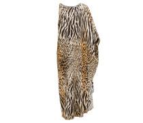 Pamela Asymmetric Leopard-print Maxi Dress