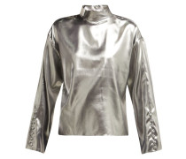 Dropped-shoulders Silk Top