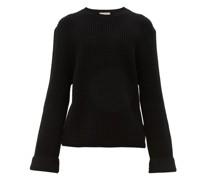 Cotton-blend Waffle-piqué Sweater