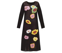 New Power Generation Floral-appliqué Chiffon Dress