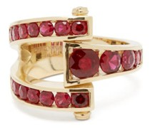 Magna Ruby & 14kt Gold Wrap Ring