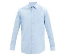 Point Collar Cotton-poplin Shirt