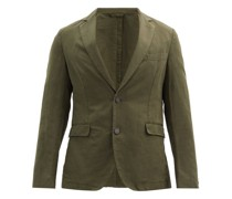 Single-breasted Cotton-blend Twill Suit Jacket
