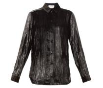 Creased Lamé-velvet Shirt