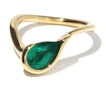 Ignite Emerald & 18kt Gold Ring