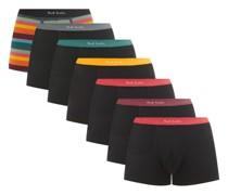 Pack Of Seven Cotton-blend Boxer Briefs