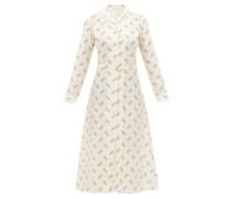 The Clara Geometric-print Cotton-blend Shirtdress