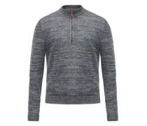 Half-zip Linen Sweater
