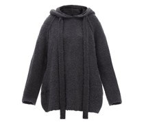Ember Oversized Bouclé Hooded Sweatshirt