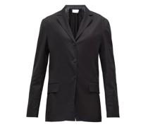 Fiakra Single-breasted Cotton Jacket
