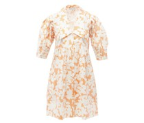 Honeysuckle Floral-print Cotton-seersucker Dress
