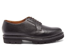 Melvin Grained-leather Derby Shoes