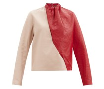 Ellen Asymmetric Leather Top