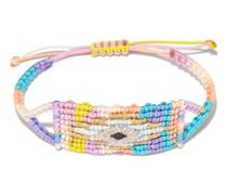Evil Eye Diamond, Sapphire & Cord Bracelet