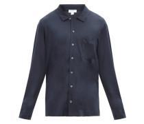 Patch-pocket Cotton-blend Jersey Pyjama Shirt