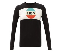 Lion-intarsia Wool Sweater
