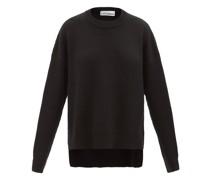 Oversized Side-zip Wool Sweater