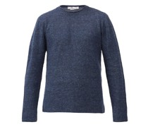 Rolled-edge Linen-blend Sweater