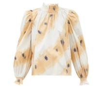 Tamara Tie-dyed Shirred Cotton Blouse