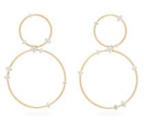 Circus Diamond & 18kt Gold Hoop Earrings