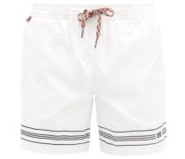 Martin Logo-embroidered Shell Swim Shorts
