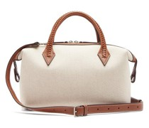 Perriand City Small Braided-handle Linen Bag
