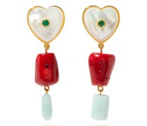 I'm In Love Mother-of-pearl & Gold-plated Earrings