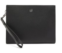 Cadogan Grained-leather Pouch