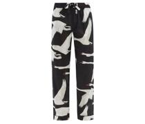 Swan-print Organic-cotton Pyjama Trousers