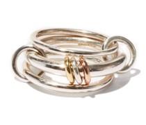 Gemini Silver, Rose-gold & Yellow-gold Ring