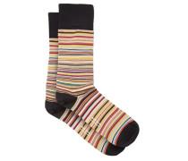 Signature Stripe Cotton-blend Socks