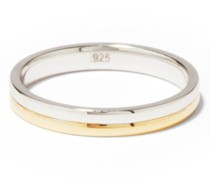 Duo Sterling-silver & 14kt Gold-vermeil Ring