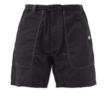 Topstitched Belted Technical Shorts