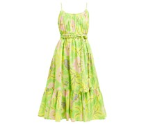 Lea Botanical-print Cotton Dress
