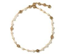 Gg-logo Faux-pearl Choker Necklace
