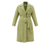 Agnes Belted Organic-cotton Twill Padded Coat
