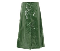 A-line Pvc Midi Skirt