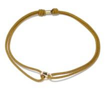 Skull 14kt Gold & Cord Bracelet