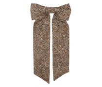 Fortuna Leopard-print Oversized Bow Hair Clip