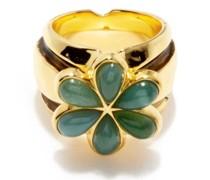 Virginia 18kt Gold-plated Flower Ring