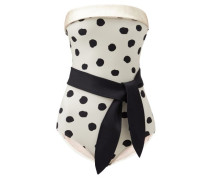 Pois Strapless Polka-dot Swimsuit