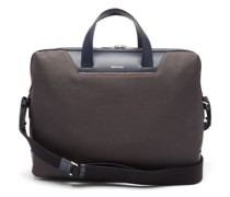 Signature Stripe Canvas And Leather Briefcase