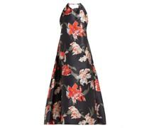 Tulip-print Halterneck Duchess Satin Dress