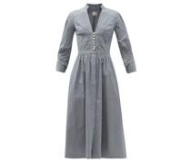 Flora Striped Denim Midi Dress