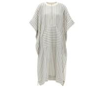 Calyx Striped Cotton-blend Midi Kaftan Dress