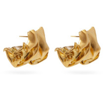 Crunched 14kt Gold-vermeil Earrings
