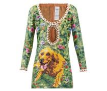 Golden Meadow Faux-pearl Sequinned Mini Dress