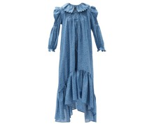 Defensia Floral-print Cotton-poplin Maxi Dress