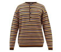 Striped Wool Henley Sweater