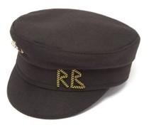 Safety-pin Logo-plaque Wool-felt Baker Boy Cap